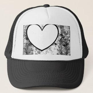 Cap, Hat,  Heart Photo Insert Frame Grunge Trucker Hat