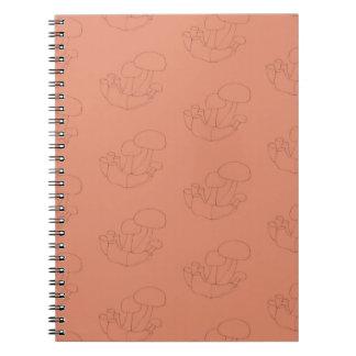 cap mushrooms notebook