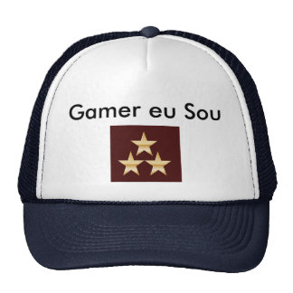Cap On Gamer (Blue With White)