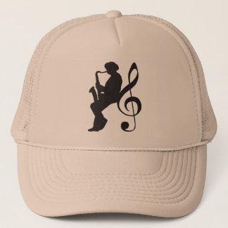 cap saxophoneplayer silhouette (G-key)
