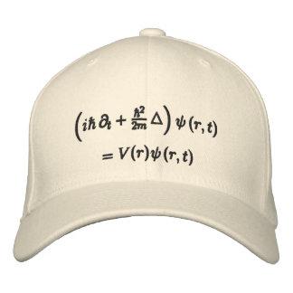 Cap, Schrodinger wave equation, black thread Embroidered Hat
