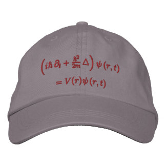 Cap, Schrodinger wave equation, red thread Embroidered Cap