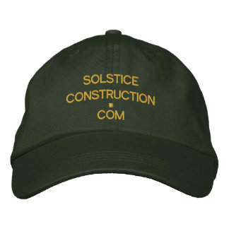 Cap - SOLSTICECONSTRUCTION.com Embroidered Cap