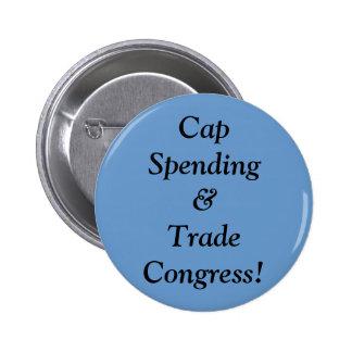 Cap Spending&Trade Congress! 6 Cm Round Badge