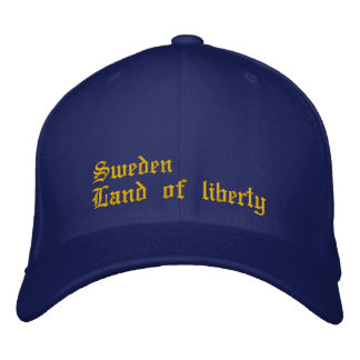 "Cap ""Sweden country of liberty """