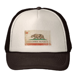 Cap with Distressed Flag from California