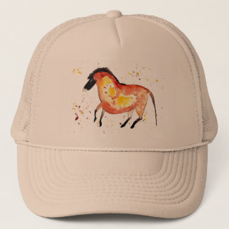 Cap with handpainted horse