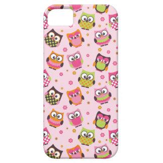 Capas de iphone coloridas bonitos das corujas (ros iPhone 5 cases