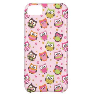 Capas de iphone coloridas bonitos das corujas (ros cover for iPhone 5C