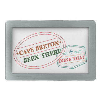 Cape Breton Been there done that Rectangular Belt Buckles