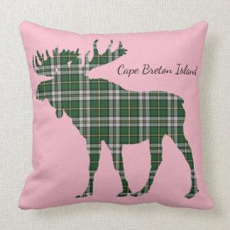 Cape Breton Island Tartan Custom Moose pillow
