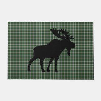 Cape Breton moose tartan welcome mat