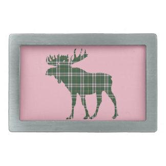 Cape Breton Tartan belt buckle pink moose