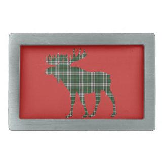 Cape Breton Tartan belt buckle red moose