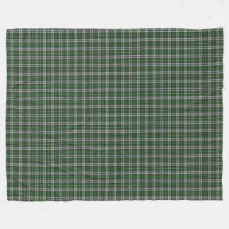 Cape Breton Tartan Custom green Plaid Fleece Blanket