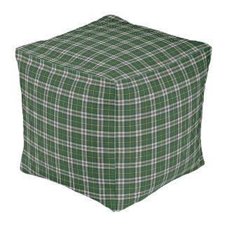 Cape Breton Tartan Custom green Plaid pouf