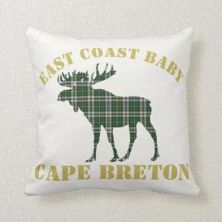 Cape Breton Tartan Custom Moose green Plaid Cushion