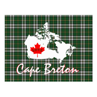 Cape Breton tartan Customize Canada post card
