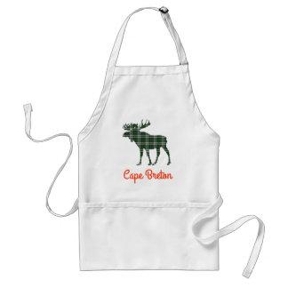 Cape Breton tartan moose apron