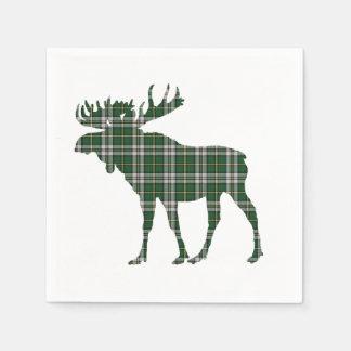 Cape Breton tartan moose paper napkins