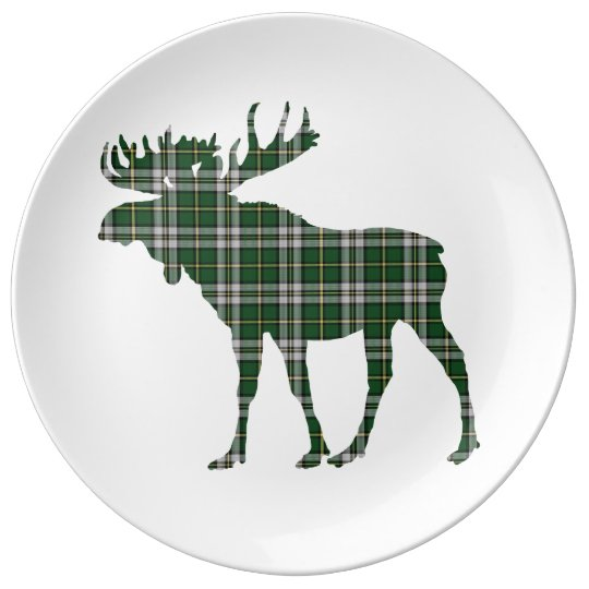 Cape Breton  Tartan plaid moose decor plate Porcelain Plates