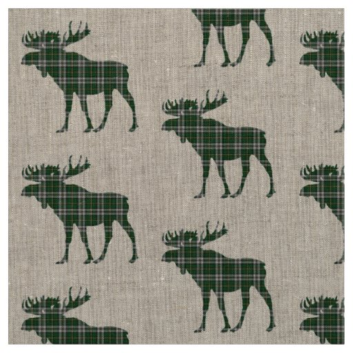 Cape Breton  Tartan plaid moose fabric