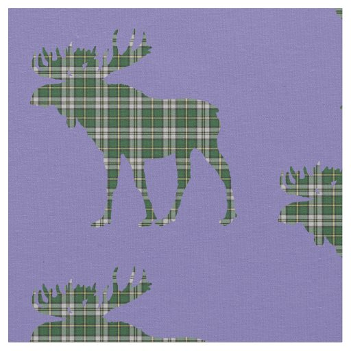 Cape Breton  Tartan plaid moose fabric blue