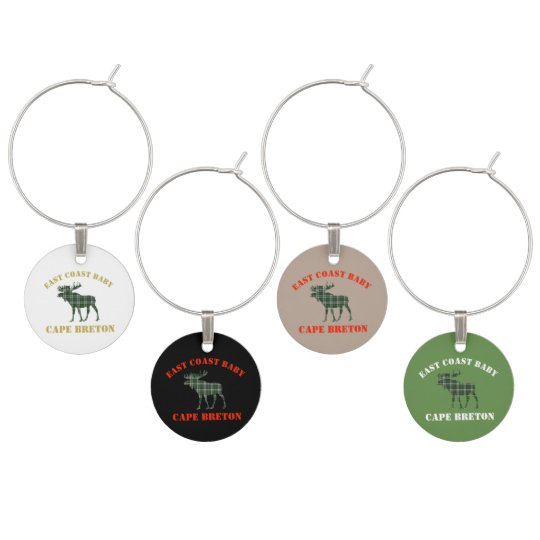 Cape Breton Tartan Wine Charms moose