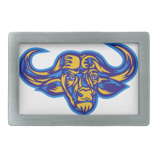Cape Buffalo Head Retro Belt Buckle