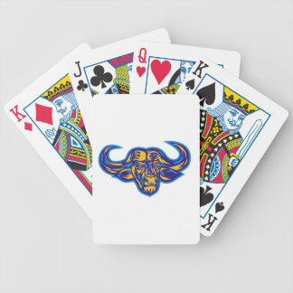 Cape Buffalo Head Retro Bicycle Playing Cards