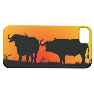 Cape Buffalos at sunset  Iphone case