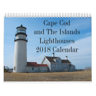 Cape Cod and the Islands Lighthouses 2018 Calendar