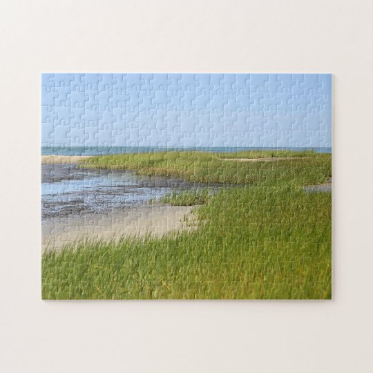 Cape Cod Bay ocean beach Jigsaw Puzzle