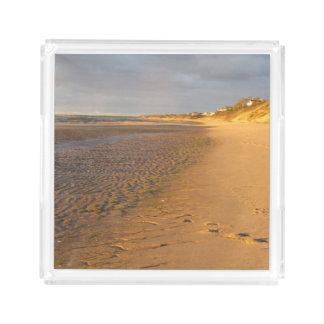 Cape Cod Bay Sand Flats Sunset Acrylic Tray