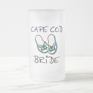 Cape Cod Bride Frosted Glass Beer Mug