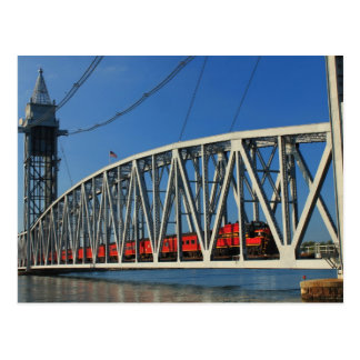 Cape Cod Canal Railroad Bridge Postcard
