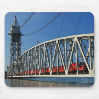 Cape Cod Canal Railroad Bridge Train Mouse Pad