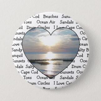 Cape Cod Heart Button