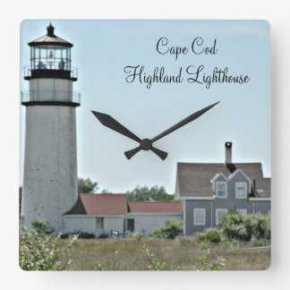 Cape Cod Highland Lighthouse Square Wall Clock