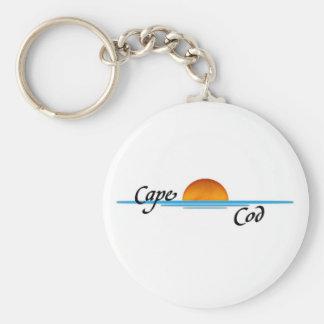 Cape Cod Basic Round Button Key Ring