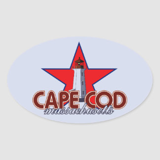 Cape Cod Lighthouse Oval Sticker