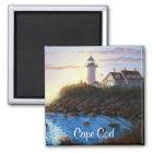Cape Cod MA Nobska Lighthouse Painting Magnet