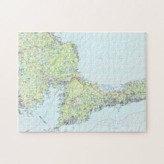 Cape Cod Map (1986) Jigsaw Puzzle