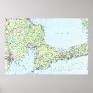 Cape Cod Map (1986) Poster