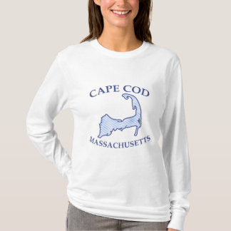 Cape Cod Map Preppy Blue Stripe T-Shirt