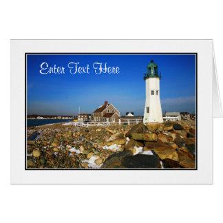 Cape Cod Mass Lighthouse Greeting Card - Customize