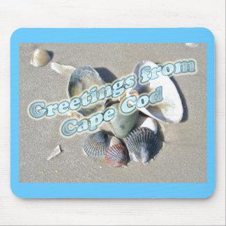 Cape Cod Massachusetts - Shell & Surf Mouse Pad