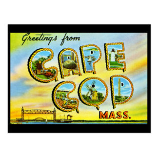 Cape Cod Massachusetts Vintage Postcard