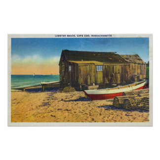Cape Cod, MassachusettsView of a Lobster Shack Poster