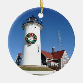 Cape Cod Nobska Lighthouse Ornament
